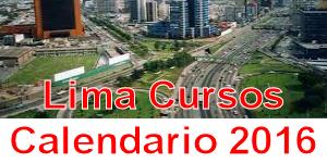 Lima cursos presenciales calendario 2016
